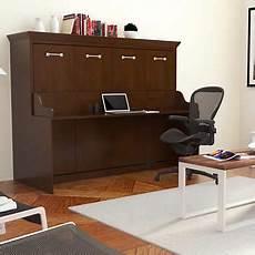 Melbourne Wall Bed W Desk Combo Walnut