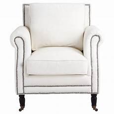 fauteuil cuir blanc baudelaire maisons du monde