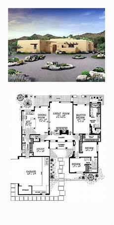 small adobe house plans adobe style cool house plan id chp 49288 with images