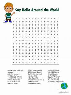 free printable say hello word search hello word word puzzles learning italian