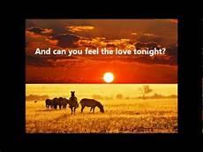 can you feel the love tonight elton john the lion king lyrics youtube