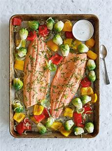 baked trout with roasted vegetables ricardo