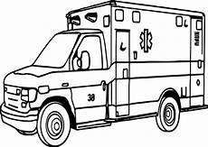 coloring pages of emergency vehicles 16464 vehicle outline drawing at getdrawings free