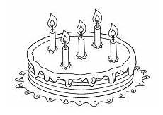 Kinder Malvorlagen Torte Malvorlage Torte Geburtstag