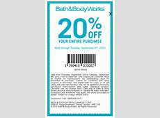 bath and body 20% printable