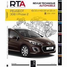 Revue Technique Rta Peugeot 308i Ph 2 1 6 E Hdi