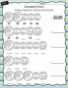 money worksheets grade 1 canadian 2167 canadian money worksheets grade 2 3 by catch them learning tpt