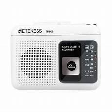 Retekess Portable Radio With Cassette Playback by Retekess 2 Band Fm Am Portable Radio With Cassette