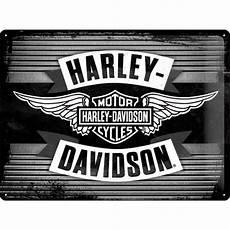 harley davidson silver wings tin sign 30x40cm