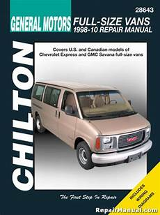 online car repair manuals free 2008 chevrolet express electronic throttle control chilton chevrolet full size vans 1998 2010 repair manual