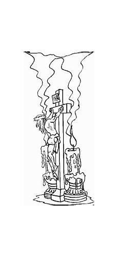 Malvorlagen Seite De Jesus Jesus Am Kreuz Mit Kerzen Ausmalbild Malvorlage Religion
