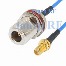 15cm coaxial blue jumper cable rg405 6in sma to n with nut