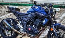 Modifikasi Yamaha Mt25 by Modifikasi Yamaha Mt25 Retro Modern Xsr155 Dijamin Minder