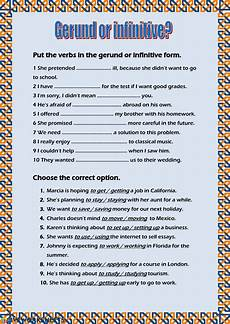 verb patterns exercises pdf with answers 457 gerund or infinitive ficha y en pdf