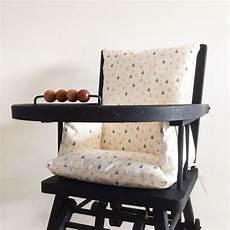 coussin chaise haute en toile enduite motif gouttes