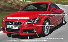 Gitter F 252 R Frontstossstange Audi Tt 8j S Line Mit