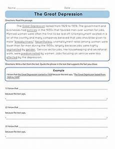 the not so great depression not buddy lesson plan education com lesson plan