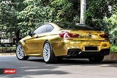 gold wrapped bmw m6 adv10 0 mv2 cs wheels