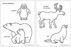 arctic animals printable coloring pages 17219 polar animals coloring page and printables for standing animals themes artic polar