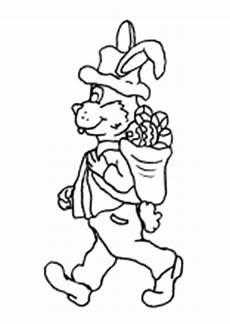 ausmalbild osterhase mit korb ausmalbilder ostern osterhase ostereier kinder malvorlagen
