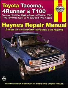 online car repair manuals free 1998 toyota t100 engine control toyota tacoma 4runner t100 repair manual 1993 2004 haynes