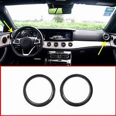 auto air conditioning service 2010 mercedes benz e class engine control aliexpress com buy carbon fiber style side air conditioning vent ring trim for mercedes benz e