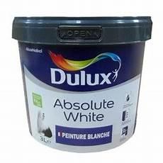 Peinture Acrylique Dulux Absolute White Blanc Mat 3l