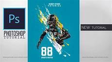 Adobe Photoshop Tutorial L Sports Poster Design L Easy