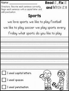 free handwriting worksheets for 2nd graders 21752 free fix it up sentences grade writing kindergarten writing 1st grade writing