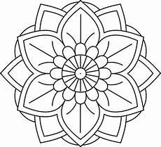 simple flower mandala coloring pages free printables