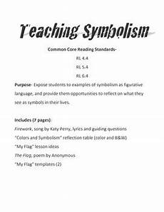 teaching symbolism figurative language by mr r s upper elementary grab bag