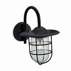 firstlight cage single light outdoor wall fitting in black finish firstlight from castlegate