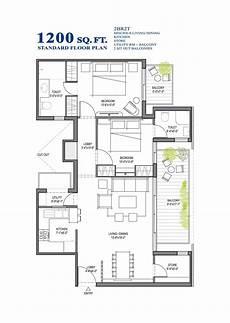 standard floor plan 2bhk 1050 sq ft customized floor plan 1200 square foot open floor