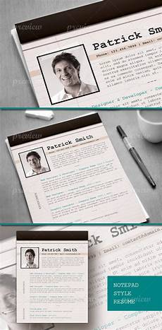 resume with notepad look prints codegrape