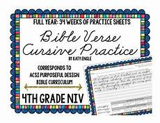 handwriting worksheets bible verses 21310 year of bible verse handwriting cursive practice 4th grade by katy engle