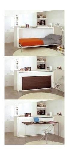 platzsparende möbel schlafzimmer raum optimal ausnutzen mit einem bett im schrank