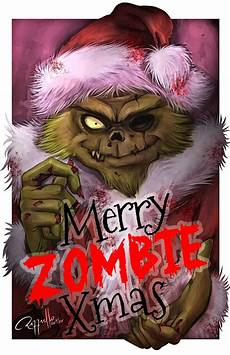 merry christmas zombie pictures merry zombie christmas by luizraffaello
