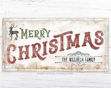 merry christmas photo with name rustic merry christmas sign with family name widdlytinks wall art