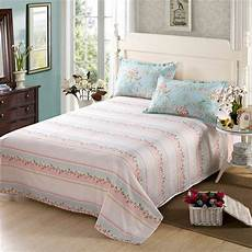 aliexpress com buy 100 cotton soft flat sheet full queen king bed sheets with pillowcase