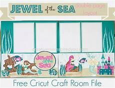 of the sea cricut scrapbook layout fonts mermaids