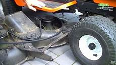 how to replace belt remove deck on lawn mower