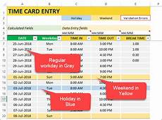 employee timesheet template excel time card work hours