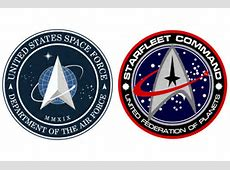 Space Force Vs Star Trek,No, Trump Did Not Rip-Off Star Trek For His Space Force,Space force logo comparison|2020-05-18