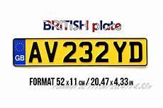 ancienne plaque immatriculation plaque d immatriculation anglaise jaune aluminium embouti