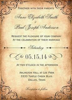 Vintage Wedding Invitation Wording 27 wedding invitation wording templates free sle