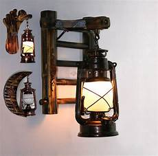 vintage free shipping bamboo bronze kerosene l wall light stair corrider hallway garage