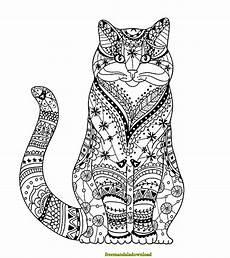 Ausmalbilder Katzen Mandala Katzen Malvorlage Mandala Cat Mandala Coloring Page Free