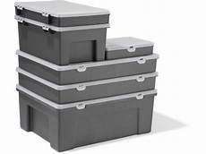 kiste mit klappdeckel bauen pp sortimentskasten sortierbox grau rechteckig kaufen