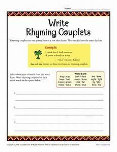 poetry writing worksheets 25375 write rhyming couplets teaching poetry writing poetry poetry lessons