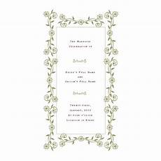 free wedding program templates de stress your wedding planning
